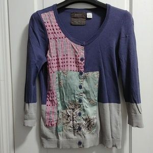 ANTHROPOLOGIE Guinevere Silk Cardigan